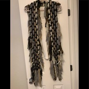 Accessories - Woven scarf bohemian or winter snow queen